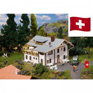 FALLER Pension Matterhorn H0 190557 Exclusief Zwitserland model