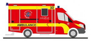 MB Wietmarscher Ambulanzfeuerwehr - Design RTW Facelift (CH)