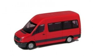 VW Crafter (2011) personenbus (middenrood)